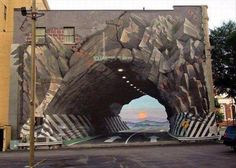 Amazing Street Art. Artist unknown. I wonder how many people drove into this...