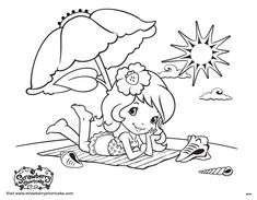 Doodle Coloring, Cartoon Coloring Pages, Coloring Pages To Print, Colouring Pages, Coloring For Kids, Adult Coloring Pages, Coloring Sheets, Coloring Books, Strawberry Shortcake Coloring Pages