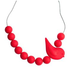 Jellystone Songbird Necklace - SCARLET RED