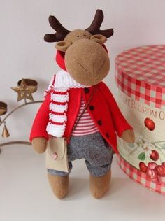 Toys with their own hands - toys with their own hands Christmas Sewing, Christmas Crafts, Christmas Decorations, Christmas Ornaments, Holiday Decor, Handmade Design, Handmade Toys, Moose Crafts, Manta Polar