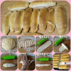 Rohlíky (a iné pečivo z rohlíkového cesta) – moje malé veľké radosti Hot Dog Buns, Hot Dogs, Food And Drink, Bread, Hampers, Bakeries, Breads