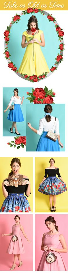 see our fresh, new takes on the Tale As Old As Time. Whether you're headed to the movie premiere or walking to the bookshop, our Beauty and the Beast Collection has you covered! Disney Bound Outfits, Disney Inspired Outfits, Disney Style, Disney Bound Belle, Disney Princess, Casual Cosplay, Disney Dapper Day, Beauty And The Beast Party, Disney Costumes