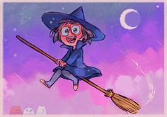 """everydaylouie: """" losassen: """" I drew fan art of Louie's witch Chloe and then Louie colored it for me!! (plus he added the beeeears) Gotta love witch Chloe! """" CHLOEEE """""""