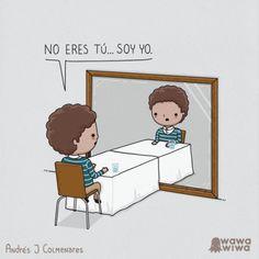 """""""No eres tú.... soy yo"""" It's not you, it's me.   Subject Pronouns / Verb Ser"""