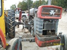 Massey Ferguson 165 tractor. Salvaged for used parts. Call 877-530-4430 for parts. All States Ag Parts.