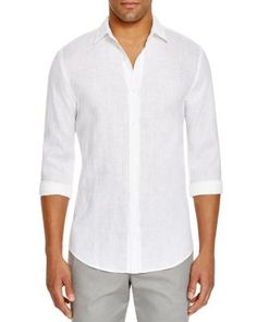The Men's Store at Bloomingdale's Linen Button Down Shirt | Bloomingdale's