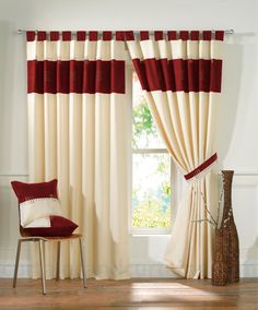 This is the style of tab top curtain I want to make.