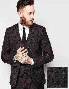 ASOS | Slim Fit Suit Jacket In Crosshatch Fabric #asos #suit #jacket