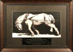 "I cry every time I read this...Ross Taylor Horse Print,   Title ""Pull it one more mile""  I want this on my wall."
