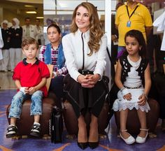 Queen Rania visited the Queen Rania Children's Hospital