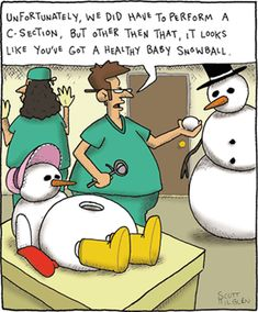 holiday meme C-Section.The Argyle Sweaterquot; by Scott Hilburn; Snowman Jokes, Snowman Cartoon, Christmas Jokes, Christmas Cartoons, Xmas, Funny Cartoons, Funny Comics, Funny Gags, Funny Memes