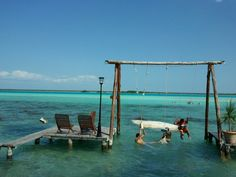 Vacation ideas on pinterest south beach miami mexico for Swing over water