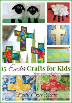 15 Easter Crafts for Kids - Fun Easter crafts that you can do with children of a various ages.