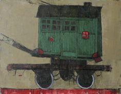 "Saatchi Online Artist: Sergey Dyomin Sergejs Djomins; Oil, 2011, Painting ""wagon 14"" #aloe"