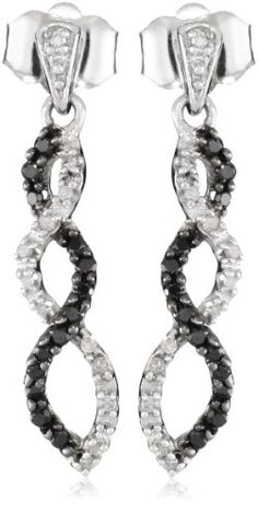 10k White Gold Black and White Diamond Infinity Earrings (1/4 cttw) - List price: $431.73 Price: $149.99 Saving: $281.74 (65%) + Free Shipping