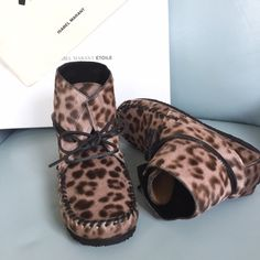 FINAL PRICE last daysIsabel Marant boots Super cute Calf hair leopard print with little bit of pinkish tone. Brand new with box. Make me an offer :) final price as marked, will be taking off listing after this week Isabel Marant Shoes Moccasins