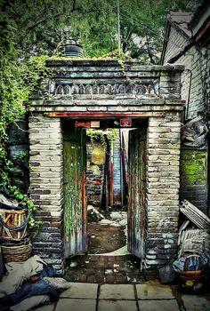 Hutong doorway, Beijing  | In #China? Try www.importedFun.com for award winning #kid's #science |