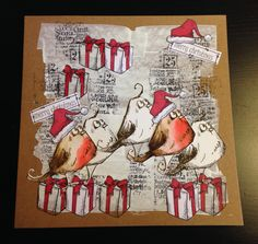Crazy birds Christmas card