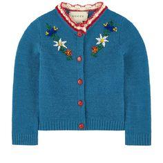 Wool cardigan Bande Web - Gucci Baby - Ideas of Gucci Baby - Gucci Baby embroidered cardigan Pretty Outfits, Cool Outfits, Fashion Outfits, Cardigan Bebe, Wool Cardigan, Vintage Outfits, Vintage Fashion, Estilo Real, Look Retro