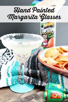 358753f307a These hand-painted margarita glasses were an easy girls  craft night  project and margaritas