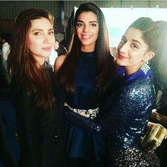 Mahira khan , Sanam Saeed and Marwa hocane. Cute Celebrities, Celebs, Sanam Saeed, Saree Poses, Best Actress Award, Mahira Khan, Pakistani Actress, Actors & Actresses, Bollywood