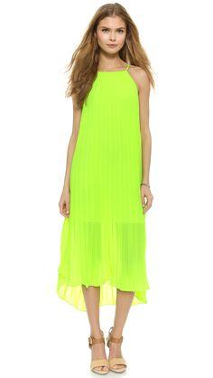 Line & Dot Pleated Midi Dress