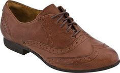Indigo by Clarks Charlie Brogue Women's Oxford (Cognac Leather)