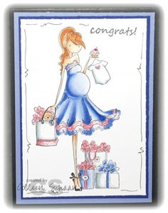 It's a Girl! by Colleen Schaan - Cards and Paper Crafts at Splitcoaststampers