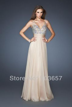 Sexy V neck Beads Long chiffon Beach style  bridesmaid dress in formal occasion in stock size 6 to 16-in Bridesmaid Dresses from Apparel & Accessories on Aliexpress.com