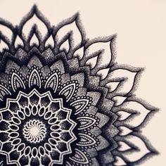 Black work mandala artwork