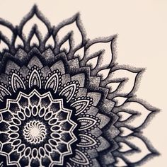 Black work mandala artwork