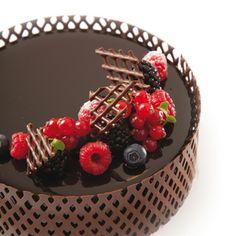 Tortenrand aus Schokolade