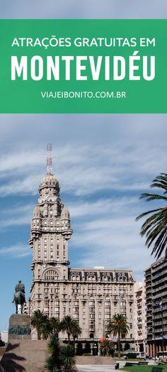 Atrações gratuitas em Montevidéu, Uruguai. Na foto, o Palacio Salvo, na Plaza Indepencia.