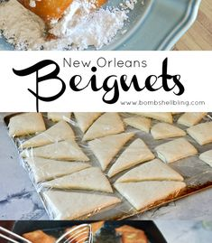 This New Orleans Beignets recipe will help you make the perfect treat for brunch or any other time! Louisiana Recipes, Cajun Recipes, Donut Recipes, Wine Recipes, Sweet Recipes, Dessert Recipes, Cooking Recipes, New Orleans Beignets Recipe, New Orleans Recipes