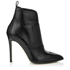 Jimmy Choo Mazzy 110 Black Shiny Leather And Black Elastic Ankle Booties In Black/black Ankle Boots, Black Ankle Booties, High Heel Boots, Heeled Boots, High Heels, Oxford Shoes Heels, Shoes Heels Boots, Zanotti Heels, Heels Outfits