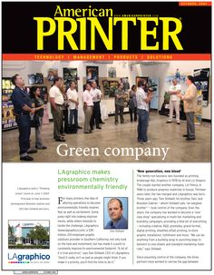 "Media Relations & B2B Marketing at Midnight Oil Creative/LAgraphico (Burbank, CA)   Worked with owners to organize the ""Thinking Green"" event held on June 7, 2007 to promote the company's environmentally friendly initiatives. This article was featured in the October 2007 issue of American Printer, one of several outlets to provide media coverage for the event.  [Page 1 of 2]"