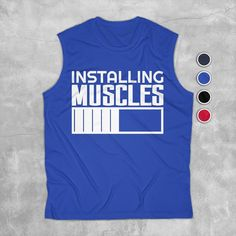 Gym Tank Tops, Muscle Tank Tops, Workout Tank Tops, Athletic Tank Tops, Funny Gym, Gym Humor, Mens Fitness, Muscles, Tank Man