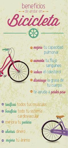 Salud y bienestar. Beneficios de montar en #bicicleta. #Cycling benefits.