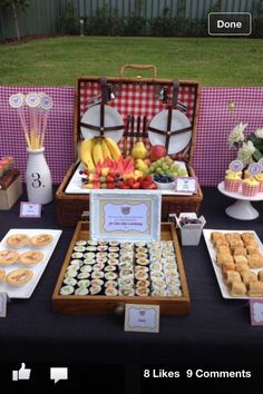 Teddy bears picnic love the food in the case idea