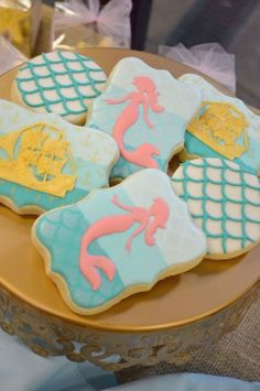 Mermaid cookies by Sweet Baketique