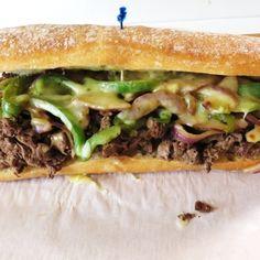 Philly cheesesteak man sandwich