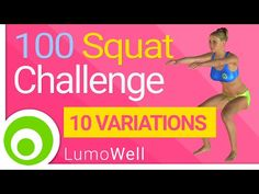 Squat challenge workout. 100 Squats a day to tone legs and lift butt - YouTube