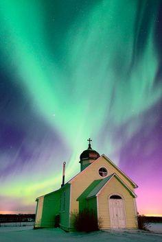 Auroras boreales desde Edmonton, Alberta, Canadá. 11 de noviembre de 2013 Crédito: Dan Jurak