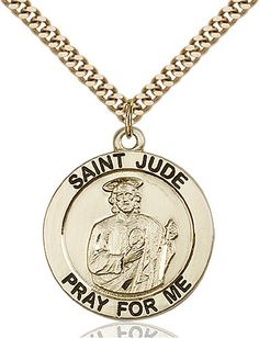 St. Jude Pendant (Gold Filled) by Bliss | Catholic Shopping .com