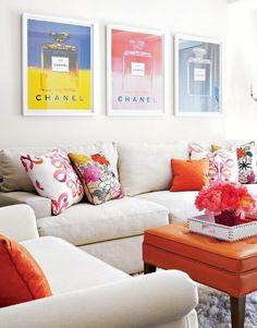 Einrichtung moderne Single-Frau chanel fotos warme farben
