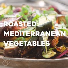 Super easy and flavorful Roasted Mediterranean Veggies will perk up your dinner plate in no time flat. Tomatoes, zucchini, eggplant & more!