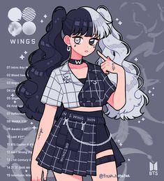 Drawing Anime Clothes, Anime Girl Drawings, Anime Art Girl, Anime Girl Dress, Arte Do Kawaii, Kawaii Art, Cute Kawaii Girl, Cute Art Styles, Cartoon Art Styles