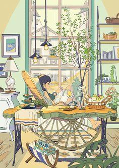 Cartoon Kunst, Anime Kunst, Cartoon Art, Anime Art, Art And Illustration, Pretty Art, Cute Art, Aesthetic Art, Aesthetic Anime