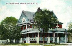 Fond du Lac Wisconsin WI 1908 Elk's Club House Antique Vintage Postcard