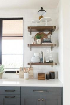 Boho Kitchen, Ikea Kitchen, Kitchen Decor, Kitchen Utensils, Kitchen Furniture, Kitchen Ideas, Kitchen Design, Brown Kitchens, Modern Farmhouse Kitchens
